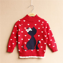 3-7 Years Girls Cotton Cardigan Girls' Sweaters 2017 Spring New Style Children Clothes Baby Winter Sweater Jacket Kids Costume
