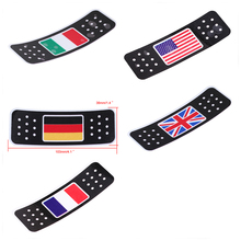 Country Flag Car Truck Motorcycle Stickers American Italian German British French Flag Stickers Badge Emblems Decals Car Styling