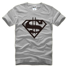 Super Heroes Couple Short Sleeve T Shirt Men Fashion Cotton O-Neck Superman Gold Dollar Printed Male T Shirt Men Fans Clothing