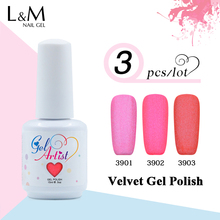 3Pcs Gelartist Brand Of  Velvet Matte Nail Gel Hight Quality 48 Colors Long-lasting Soak-off