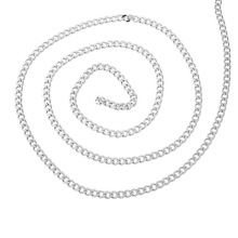 New Arrival 2M Stainless Steel Cuban Curb Link Chain For Necklace Silver Tone 6x4.5mm(China)