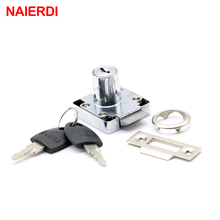 NAIERDI-338 Automatic Drawer Cam Lock Cabinet Office Cupboard Desk Locks With Iron/Plastic Key For Furniture Hardware(China)