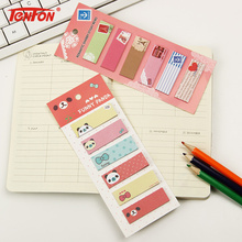 3 PCS Cute Mini Animal Romantic Memo Pad Sticky Kawaii Paper Sticker Post It Note for Kids Gifts Korean Stationery
