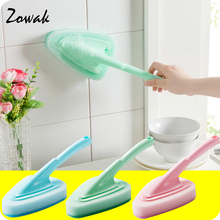 1pc Thick Sponge Household Bathtub Scrubber Scrub Brush with Handle Pool Cleaning Glass Ceramic Brushes Kitchen Bathroom Shower(China)