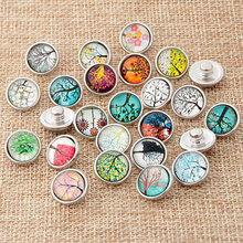 Buy 60pcs/lot 12mm Plastic Snap Buttons Tree Pattern DIY Snap Bracelet Jewelry Jewelry Making for $8.39 in AliExpress store