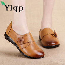 Buy Ylqp 2018 Spring New Large Size Pumps Vintage Flower Genuine Leather Mother Low Heels Shoes Leisure Middle Aged Women's Shoes for $24.32 in AliExpress store