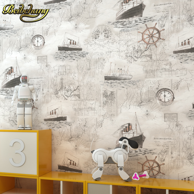 beibehang British childrens room non-woven cartoon papel de parede 3d wallpaper for walls wall papers home decor contact-paper<br>