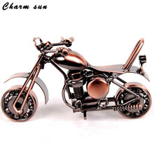 "NEO 14cm (5.5 "") Motorcycle Model Metal halloween Boy Gift Child Toy Wrought Iron Metal Crafts christmas decorations for home(China)"