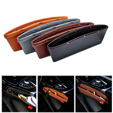 2PCS Leather Car Seat Gap Storage Bag Container Stowing Tidying  Pocket Leak-proof Auto Storage Organizer 4 Color