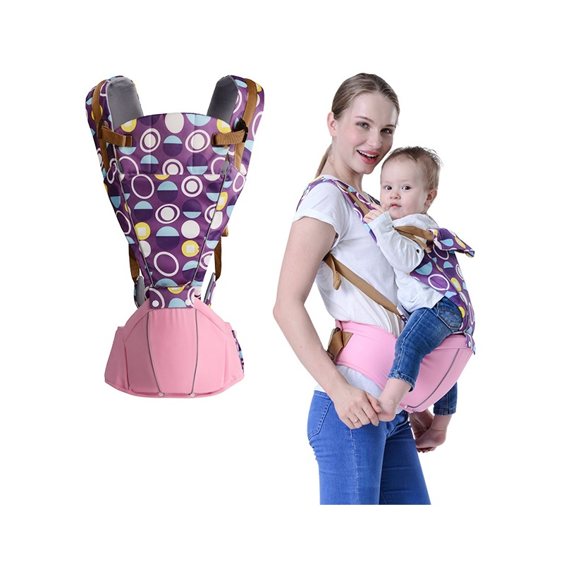 BABY LAB 0-36 Months Breathable Front Facing Baby Carrier 4 in 1 Infant hipseat Comfortable Ergonomic Baby Sling Backpack wrap<br>