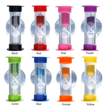 3 Min Sand Timer Hourglass With Sucker Mount,Tooth Brushing,Child Toy Xmas Gift Hourglass P20(China)
