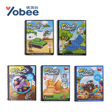 8 Themed Boards Magic Book Water Draw Exercise Book doodle Reveal Coloring Painting Reusable Paper Book Drawing Toy for Children(China)