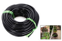 Hot A Quality 20M 4/7MM Black Micro Irrigation Pipe Water Hose Drip Watering Sprinkling Home Garden for Drip Arrow Free Shipping