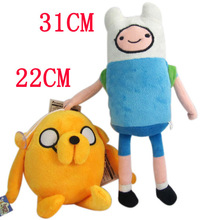 Adventure Time With Finn and Jake Plush Toys Finn Boy With Bag Jack Dog Stuffed Animals&Plush Doll Kids Gift