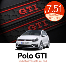 Automobile Gate slot pad  For 11-16 Volkswagen Polo Polo GTI Dust mats Water Coaster Non-slip mats Auto Accessories