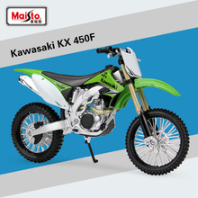 Maisto 1/12 Scale kawasaki KX 450F Motorbike Race Diecast Motocross Alloy Metal Motorcycle Model Toys For Kids Birthday Gifts(China)