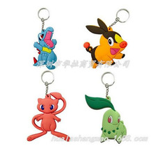 Pokemon go Keychain anime Pocket Monster 4 Style Tepig Totodile Chikorita Pendants Doll Toy Cute Llavero Chaveiro jewelry