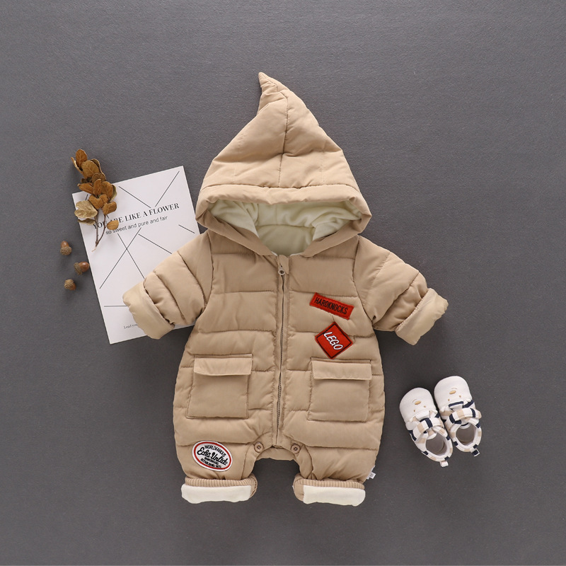 Fashion newborn baby boy clothes thick warm baby boys romper christmas baby boy clothing new born baby winter clothes<br>