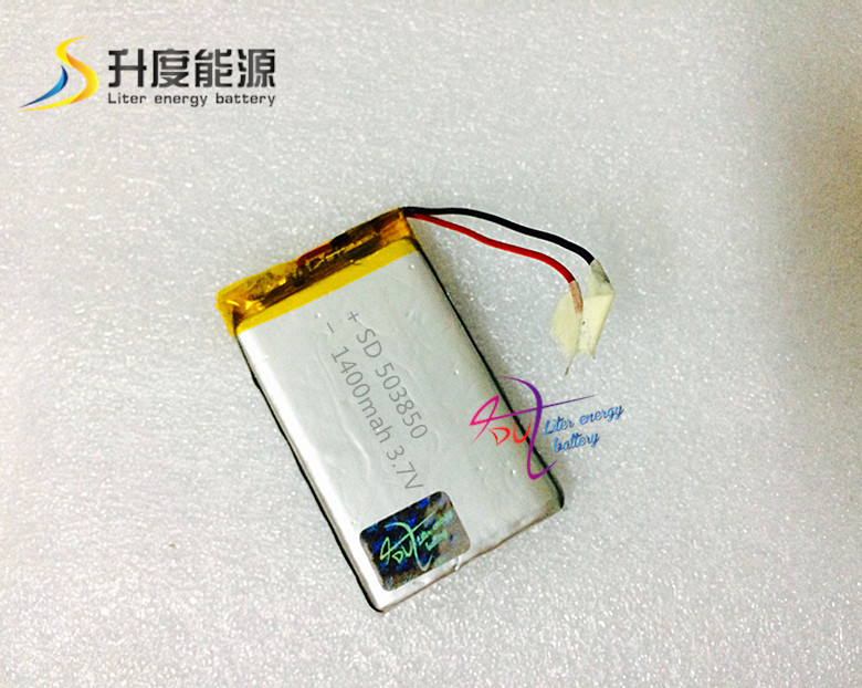 SD 503850 rechargeable li-ion battery 3.7v 1400mah  lithium polymer battery<br><br>Aliexpress