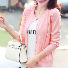 Short design thin cardigan women's cutout sunscreen air conditioning shirt sweater knitted outerwear small cape(China)