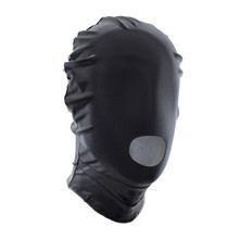 20Pcs/lot Open Mouth Bondage Light  Patent Leather Fetish Mask Hood Adult Games Sex Toys For Couples Sexy Mask Sex Products