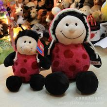 "1pc 10"" 25cm Hot Sale Nici plush toy stuffed doll Pink Ladybug Ladybird lover christmas birthday gift kids toys"