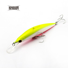 Kingdom floating minnow fishing lures 90mm 11g/26g hard bait plastic lip VMC hook for seawater five colors available model 3529(China)