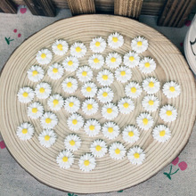 100Pieces Flatback Flat Back Resin Flower Cabochon Kawaii DIY Resin Craft Decoration Sun Flower Handmade Accessories Charm:14mm