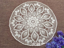 Hand Crochet Pineapple Flower Round Tablecloths White 60CM Cotton Table cloth Wedding Decoration Mats Cover cloth  Home Textile