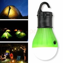 Portable outdoor Hanging 3-LED Emergency Camping Lantern LED Camp Lights Bulb Lamp For Camping Tent Fishing(China)