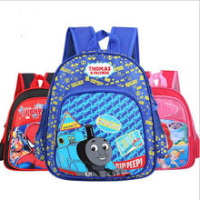 2017 New Cartoon Train Thomas School Bags for Primary Children kids School Backpack for Boys Girls Children's Backpacks Mochila