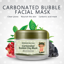 Face Skin Care Peeling Mask BIOAQUA Kawaii Black Pig Carbonated Bubble Clay Mask Winter Deep Cleaning Moisturizing Ageless Lift