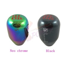 Xpower-6 SPEED RACE SHIFT KNOB(M10X1.5) FOR ACURA FOR HONDA CIVIC FOR INTEGRA-Black Neo Chrome.SK2