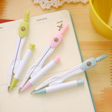 1 Pcs 17.5 X 14 X 8.7cm Cute Kawaii Aihao Geometric Brass Compass Math Set Drafting Tools School Supplies Stationery