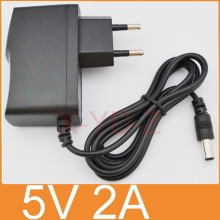 1PCS 5V2A New AC 100V-240V Converter Adapter DC 5V 2A 2000mA Power Supply EU Plug DC 5.5mm x 2.1mm Free post shipping