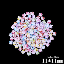 100pcs /lot Mixed Color Hello Kitty Plastic Beads for Kids Bracelet Children Acrylic Bead Jewelry making Crafts Decoration