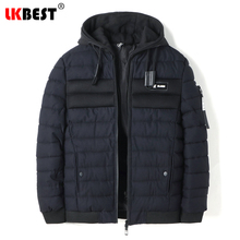 LKBEST 2017 Men Padded Parka Hooded Windproof Cotton Coat Men Winter Jackets Casual Loose Outerwear Overcaot Brand Clothing 8850(China)