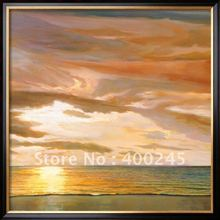 Modern Landscape oil paintings seascape for living room QUIET HORIZON by Dan Werner 100% handmade High quality(China)
