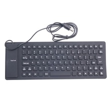 85 key USB 2.0 Silicone Roll Up Foldable Computer Keyboard for PC(China)
