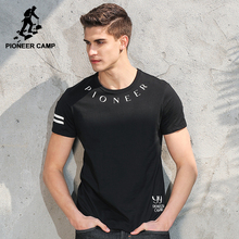 Pioneer Camp New fashion T shirt men brand-clothing letter printed T-shirt male top quality 100% cotton Tops tees ADT701092