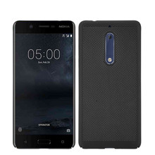 Luxury Case for Nokia 5 ultra thin Fashion cellular grid PC Cover back cover for Nokia5(China)