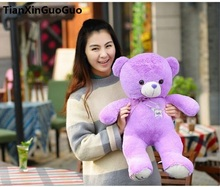 filled plush toy large 60cm purple teddy bear plush toy soft doll throw pillow birthday gift h1439(China)