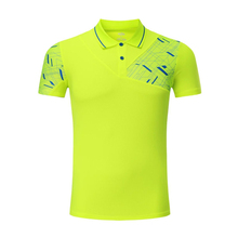 2017 Men Sportswear Quick Dry Badminton Shirt ,Men Running Badminton Table Tennis Shirt Table Tennis Clothes Sport POLO T Shirts(China)