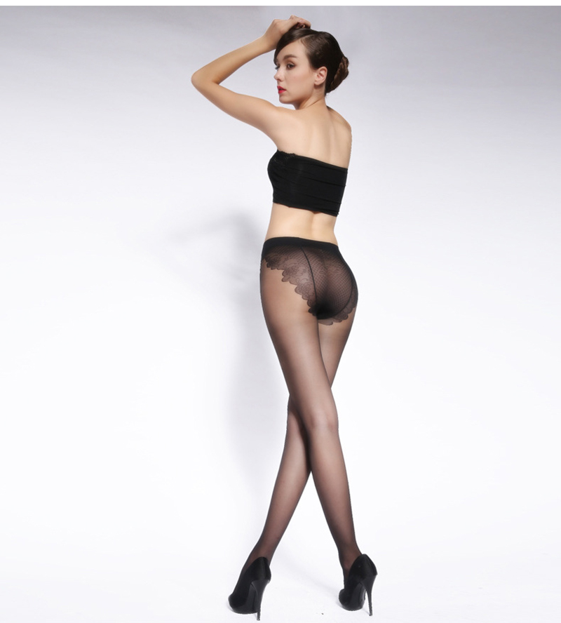 Sexy Stockings, Thin Tights High Elastic Women's Lingerie, Nylon Pantyhose Long Thigh 32