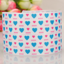 High quality printed ribbon 50 yards party decoration 22mm blue and red little love diy material kids accessories 7/8""