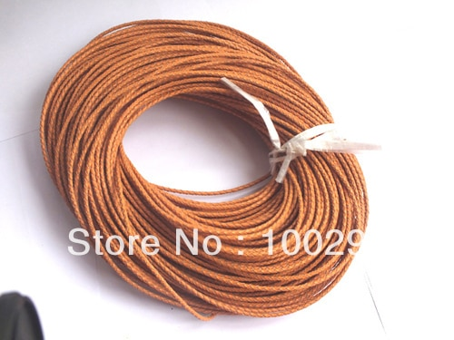 3MM~100m/lot ORANGE leather cords hot on sale (FREE SHIPPING) MWN8953