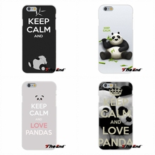 For Samsung Galaxy S3 S4 S5 MINI S6 S7 edge S8 Plus Note 2 3 4 5 Soft Silicone Case Keep Calm And Love Pandas Good(China)