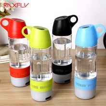 RAXFLY Design Water Bottle Mini Bluetooth Speaker Portable Cups Compass Wireless Speaker Outdoor Sound Stereo Music Player