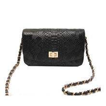 2016 high quality women leather handbags fashion snake skin ladies shoulder bags designer hand bag chain sac a main femme bolsos
