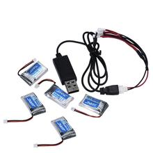 5X 3.7V 150mAh 20C Battery And USB Cable Set For JJRC H20 RC Quadcopter 3.7V 150mAh 20C Battery RC helicopter parts